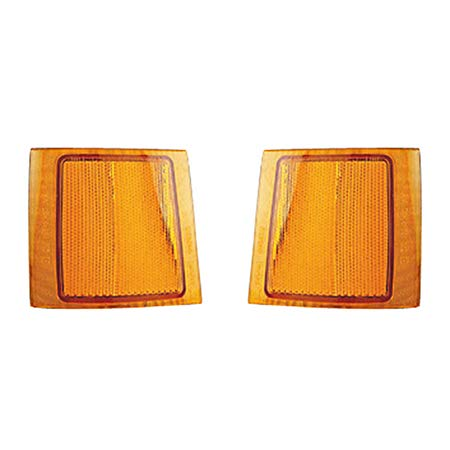 Fits 1994 Chevrolet Blazer Pair Driver and Passenger Side Turn Signal/Side Marker Light GM2550143 GM2551143 - Replaces 5977459 5977460 ;w/composite headlamps; upper reflector