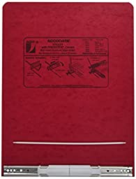 Acco 9.5 Inch Presstex Data Binder, Red, (A7026029A)