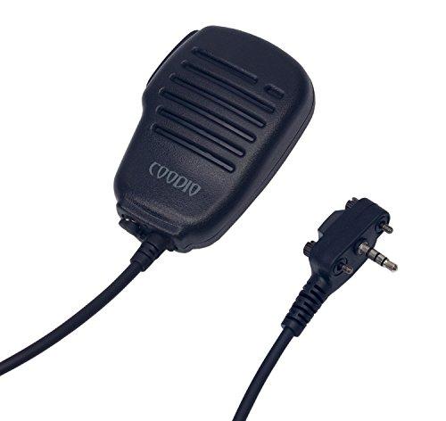 Coodio Remote Lapel Microphone Shoulder Speaker Mic RainProof For Vertex Standard EVX-531, VX-241 2 Way Radio