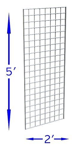 Only Garment Racks #1898WHT (3PCS) Only Garment Racks Commercial Grade Gridwall Panels - Heavy Duty Grid Panel for Any Retail Display, 2' Width x 5' Height, 3 Gridwall Panels Per Carton (White Finish)