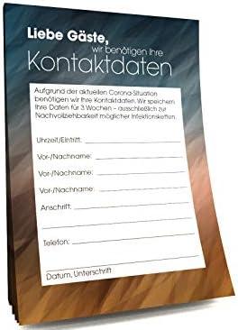"""Kontaktdaten-Zettel für Gastronomie""""Restaurant"""" (2500)"""