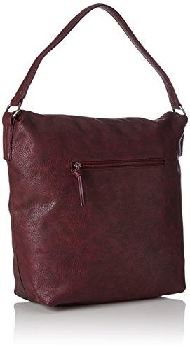 Tamaris Bimba Hobo Bag - Shoppers y bolsos de hombro Mujer Rojo (Vino Comb)