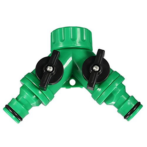 Ac2Shop Screw Hose Pipe Splitter 2 way Connector Adaptor Garden Tool Quick by K.L.T