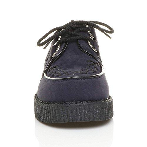 Ajvani Mens Lace Up Bordures De Chaussures Chaussures Taille Marron Daim