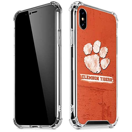Skinit Clemson Tigers Vintage iPhone XR Clear Case - Officially Licensed Clemson University Phone Case - Slim, Lightweight, Transparent iPhone XR Cover