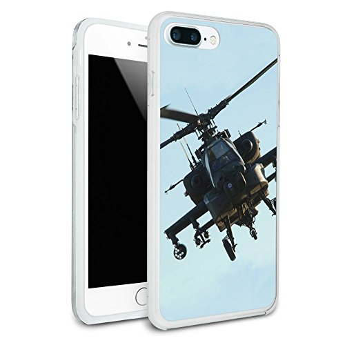 Helicopter Case (Apache Helicopter Protective Slim Hybrid Rubber Bumper Case for Apple iPhone 7 or iPhone 7+ Plus - iPhone 7 Plus (fits larger Plus model only))