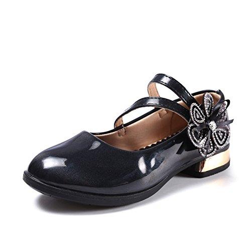 CYBLING Girls Mary Jane Princess Flower Low Heels Shoes Kids Toddler School Uniform Flat Dress Shoe – DiZiSports Store