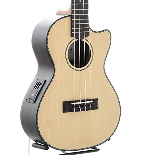 (Cordoba 21T-CE Tenor Cutaway Acoustic/Electric Ukulele SP/EB w/Bonus Lulu Pick)
