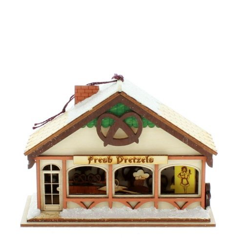 Ginger Cottages - Peppermint Twist Pretzel Shop GC132, Mini collectable building as part of the collection