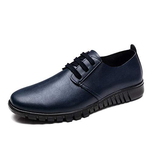 Dimensione cava autunno scarpe e Color Blu uomo casual casual Scarpe 2018 pelle uomo Marrone Oxford Pelle Jiuyue shoes Uomo da 47 EU stile Scarpe in da wq4B6a
