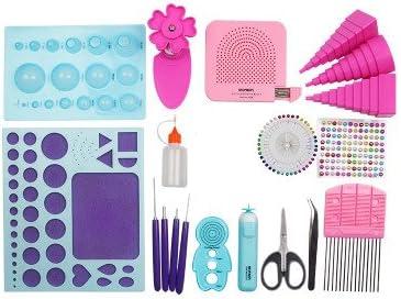 YURROAD 19pcs Paper Quilling Tools Kit Paper Strips DIY Tool Set