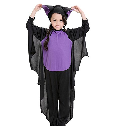 Apiidoo Kids Cozy Bat Halloween Costumes with Hood Cosplay Outfits Fancy Dress (Cosplay Costumes For Fat Guys)
