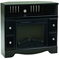 Ashley Furniture Signature Design - Shay Corner TV Stand - Contemporary - Black