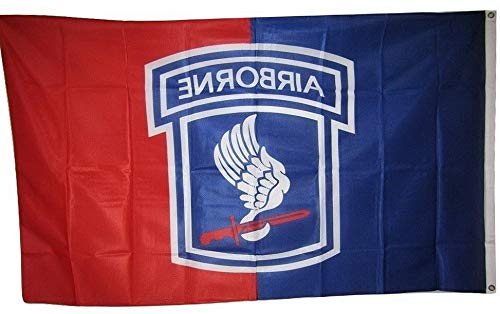 Hebel 3x5 U.S. Army 173rd Airborne Division Knitted Nylon Premium Flag 3x5 Grommets   Model FLG - 287