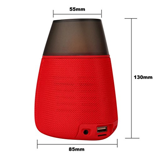 Ultra Bass Portable Bluetooth Dual Speakers (Red) Set Of 4 - 2