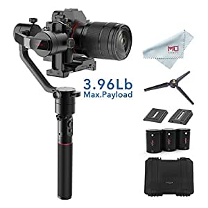 MOZA AirCross 3-Axis Gimbal Stabilizer for Mirrorless Camera up to 3.9 Lb, 12Hrs Run-time, Time-lapse Shooting, Auto-Tuning, i.e. Sony A7SII, Pana GH3/4/5