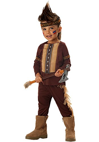 Child's Indian Warrior Costume (Size: Small 4-6) (Warrior Indian Costume)