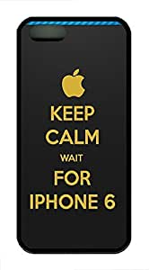 iPhone 5 5s Case, Slim Thin Shockproof Keep Calm And Wait For Fun Creativity IP5 Case fit for iPhone 5 5s Ultra Protective Back Rubber Cover Impact Protection for iPhone 5 5s (Black)