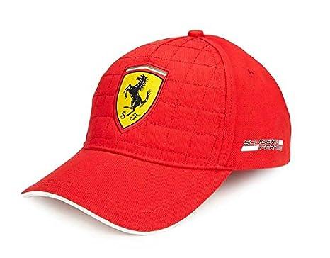 Amazon.com  Scuderia Ferrari Formula 1 2018 Red Quilt Stitch Hat Cap ... be82b6f7300
