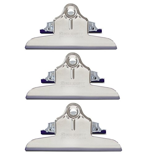 Value Pack of 3 Wall Mountable Clipboard Clips, holds up to 1 inch of paper, 6