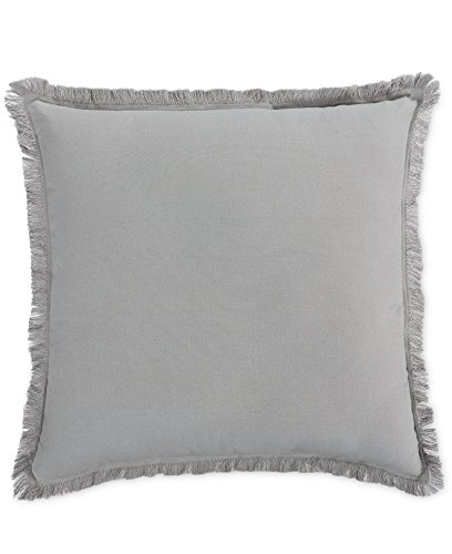Fringe Throw Pillow (Home Design Studio Fringe Pillow Color Grey)