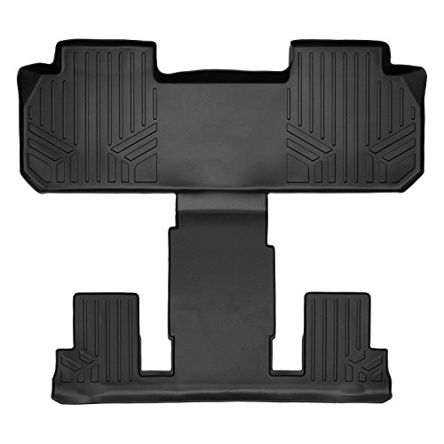 SMARTLINER Floor Mats 2nd and 3rd Row Liner Black for 2018-2019 Chevrolet Traverse / Buick Enclave with 2nd Row Bucket Seats