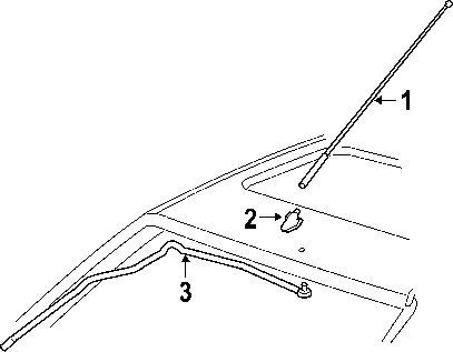 MONDEO FRONT ROOF ANTENNA AERIAL-Antenna Mast /& Base
