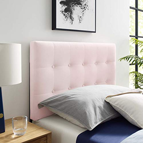 Modway Emily Twin Biscuit Tufted Performance Velvet Headboard, Pink (Headboard Pink Tufted Twin)