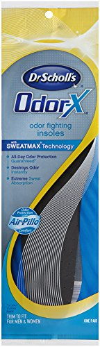 Dr. Scholl's Odor-X Odor Fighting Insoles, 1-Pair Packages (Pack of 4)