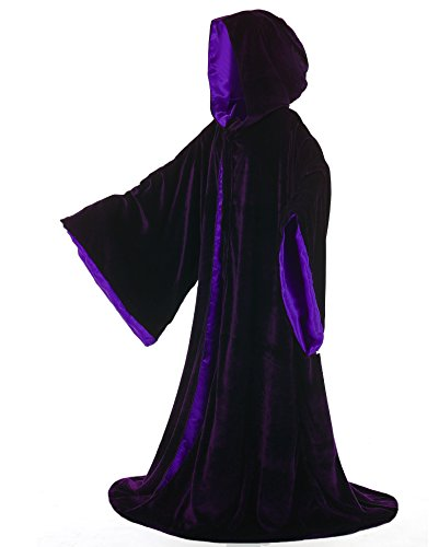 LuckyMjmy Velvet Wizard Robe Halloween Cloak Fancy Cosplay Costume (Small, (Halloween Scavenger Hunts Adults)