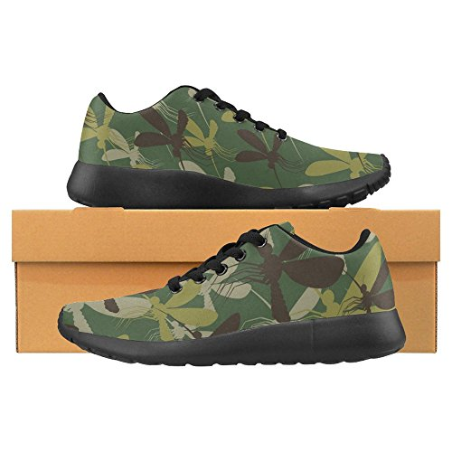 Running 1 Sneaker Sports Shoes InterestPrint Casual Multi Walking Womens Easy Jogging Comfort Military Running Lightweight Go Camouflage wxTxfPqa