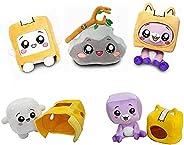 MIHTAO Boxy Foxy Plush Toy,Lanky Plush Box Doll,Rocky Box Soft Stuffed Plushies Removable,Boxy and Foxy Plush