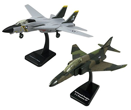 (InAir SMITHSONIAN E-Z Build, 2-piece Set, F-14 Tomcat Jolly Roger & F4 Phantom - 1:72 Scale)