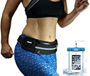 dimok Running Belt Waist Pack - Water Resistant Runners Belt Fanny Pack for Hiking Fitness – Adjustable Runnin