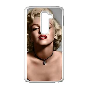 """Fun Audrey Hepburn """"True Beauty in a Woman Is Reflected in Her Soul"""" Snap on LG G2 Phone Case(White)"""
