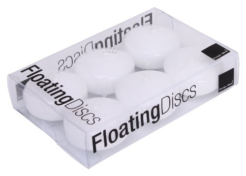 Design Ideas Floating Candle Discs, Box of 6, Small, White