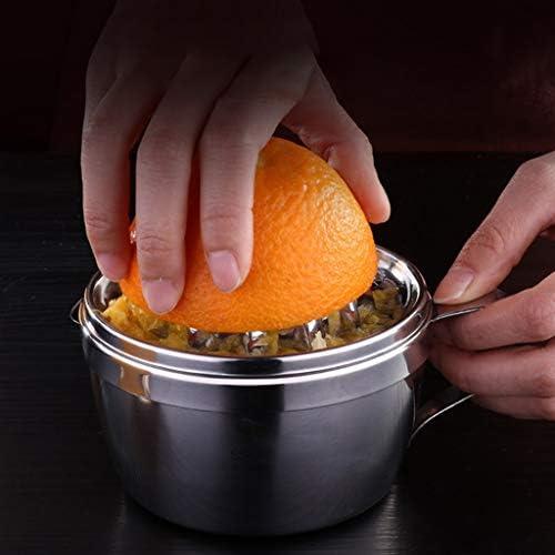 Abcidubxc Mini Exprimidor de Acero Inoxidable, Exprimidor de cítricos y Lima, con bandeja de filtro, respetuoso con el medio ambiente, duradero, fácil de limpiar