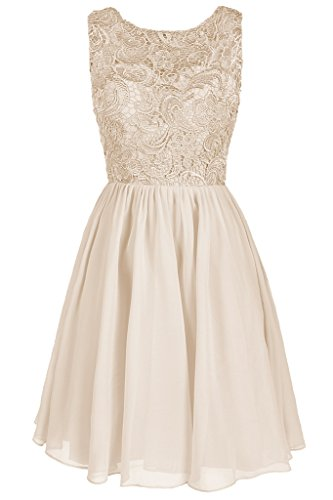 Lace Formal Women's Homecoming Champagne Dresstore Short Dress Bridesmaid W5nx66qa