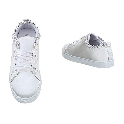 Sneakers Gris Sneaker Low Scarpe Da Donna Ital Clair design Piatto qP4UBTw