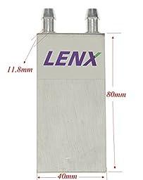 BXQINLENX Aluminum Water Cooling Block for CPU Graphics Radiator Heatsink 40x 80mm White