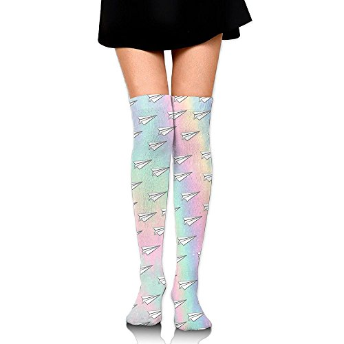 Cool Paper Plane Thigh High Socks Running Knee High Over The Knee Socks For Women from MAYWU