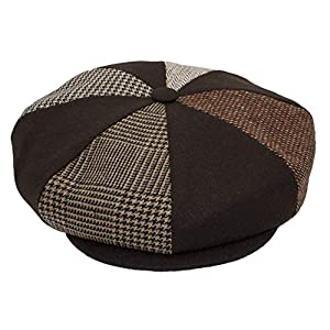 Patch Combo Wool Applejack Newsboy Cap Made in USA (BrownPatch)