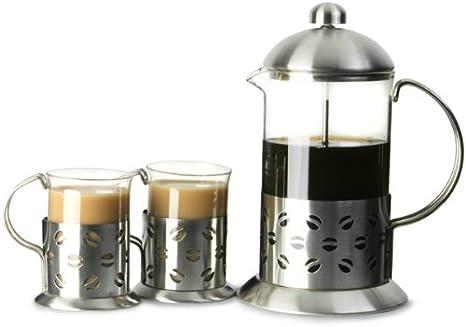 Apollo acero inoxidable juego de café desatascador cafetera 8 taza ...