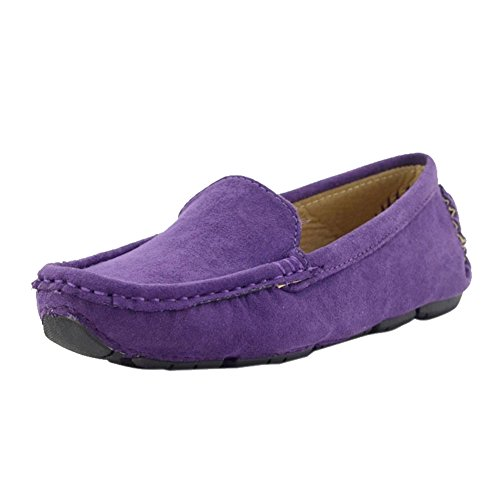 Purple Suede Kids Shoes - Kid Suede Purple Slip-On Unisex Child Oxford & Loafer,Toddler,10M US
