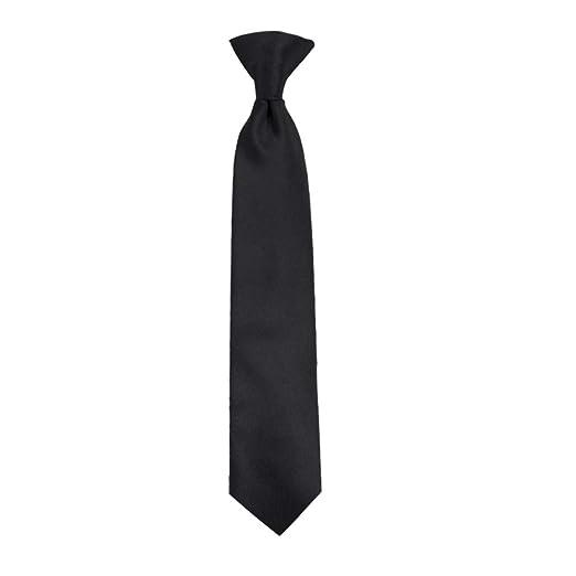 0d8dd88407b4 Amazon.com: Chaps Boys' Classic Solid Clip Tie, black One Size: Clothing
