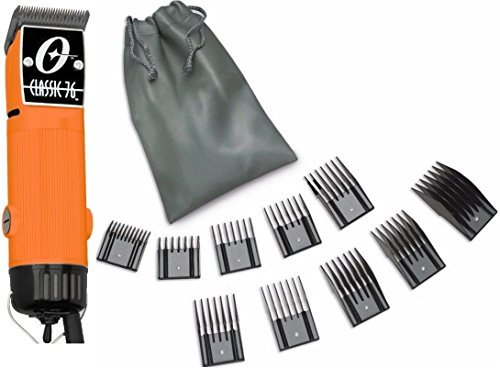 New Oster Classic 76 Orange Color Limited Edition Hair Clipper+10 PC Comb Set