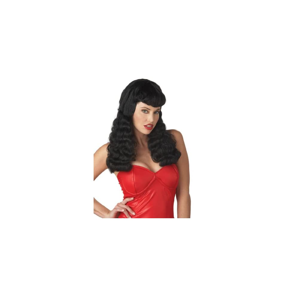 California Costumes Womens Bettie Page Wig,Black,One Size