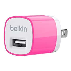 Belkin MiXiT Home and Travel Wall Charger with USB Port - 1 AMP / 5 Watt (Pink) by Belkin Inc.