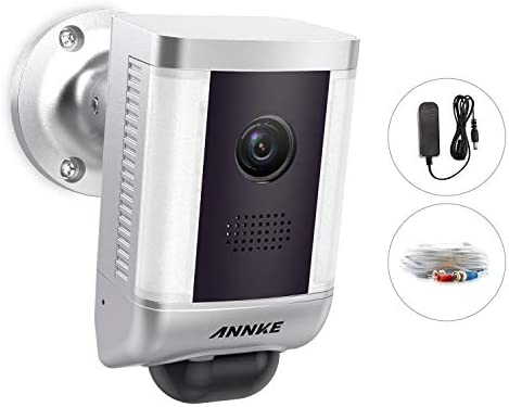 ANNKE 1080P Security Light Camera Wired PIR Floodlight with Power Supply and 60FT Cable, AHD TVI CVI CVBS 4 in 1, Work for CCTV DVR Recorder Home Security System with HD Live Streaming