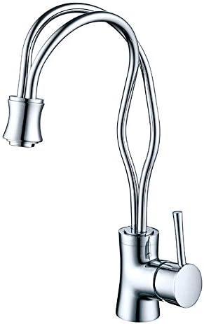 創造的な浴室のシンクの蛇口、冷水と真鍮のデッキに取り付けられた浴室のシンクのミキサータップシングルハンドルシングルホールの洗面器の蛇口,クロム